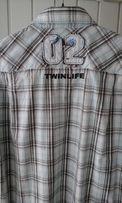 Распродажа. Рубашка бренда TWINLIFE с принтом и нашивкой. M-L