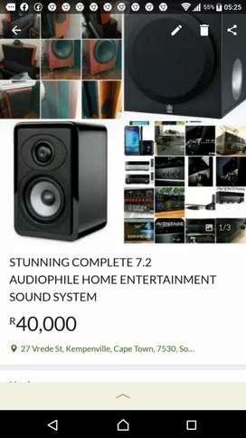 STUNNING HOME ENTERTAINMENT AUDIOPHILE SOUND SYSTEM COMPLETE