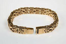 Złota Bransoleta Splot Królewski 375 - 585 - 60 gram