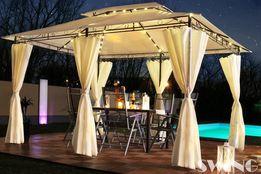 Pawilon ogrodowy namiot 3x4 ścianki oświetlenie LED + Moskitiera