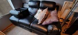 """""""Leather"""" L shaped couch"""