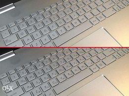 Русификация клавиатуры, нанесение кириллицы, гравировка ноутбука asus