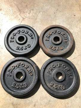 2.5kg iron weight plate