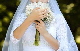 Элегантное свадебное платье!!!