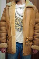 Дубленка пальто. Кожа