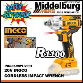 20V INGCO Cordless Impact Wrench for ONLY R1100!