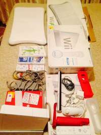Image of Wii with a lots of exstras