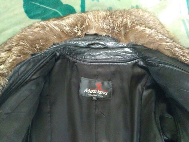 Пальто. Зима-осень. Кожа. Подстёжка-кролик Запорожье - изображение 7