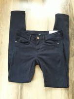 Zara spodnie jeansy rurki granatowe 36