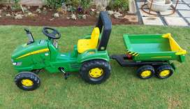 John Deere Tricycle with Trailor