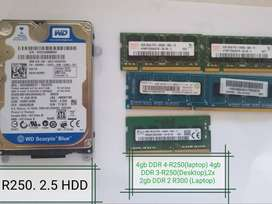 RAM and Hard Disk for Sale