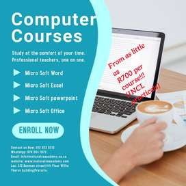 Computer Training For as little as R700 per course