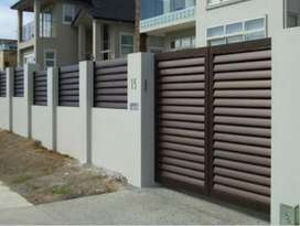 Nutec Specialists in Driveway Gates, Cladding the existing Gates