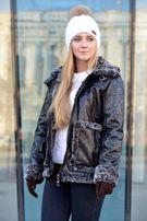 Женская дубленка зимняя теплая куртка косуха до -25