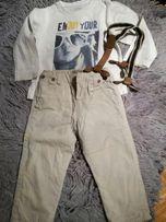 Zestaw ubranek dla chłopca Mayoral roz 86. Spodnie, szelki, bluzka.