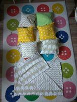 Ochrniacz do łóżka , torba na akcesoria , pościel dla niemowlaka