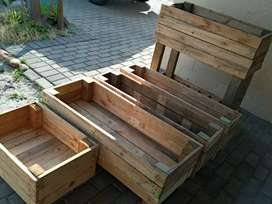 Vegetable and herb plant boxes.