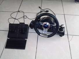 NITHO Ps2/ps3/pc steering wheel and pedals (please read description)