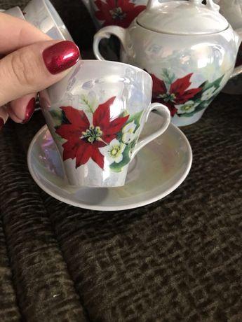 Очень красивый перламутровый чайный сервиз Днепр - изображение 7