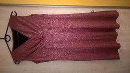 NOWA Sukienka czerwona z brokatem (pięknie się błyszczy)