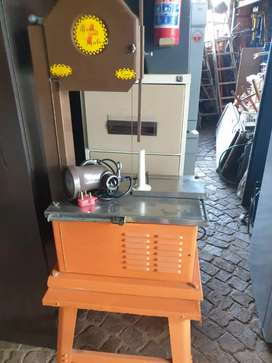 meat saw with mincer on a stand