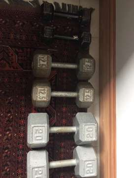 Cast iron dumbbells to buy or swop