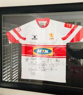 Lions Currie Cup 2010 Winning Team Autographed Framed Jersey