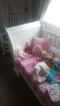 Image of White Sleigh Cot