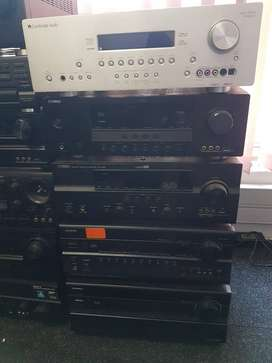 Home Theatre and stereo amplifiers for sale
