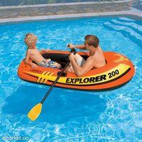 Надувная лодка Intex Explorer 200 весла в подарок