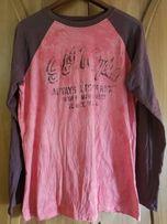 Мужская футболка с длинным рукавом в рваном стиле, р. XL, хлопок