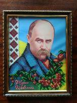 Тарас Шевченко, картина вышитая бисером