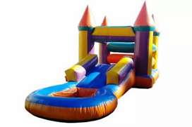 Jumping castle and waterslides at to rent