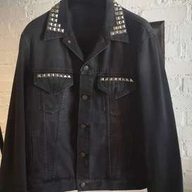 Gucci denim jacket with embroidery