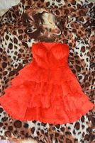 Платье красное нарядное на торжество, новый год, выпускной, свадьбу