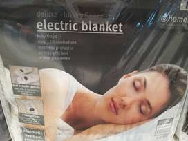 Electric blanket double deluxe plush