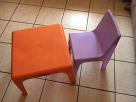 Kiddies tables and chairs