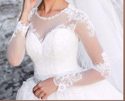 Дизайнерское свадебное платье/ весільня сукня