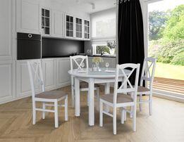 Stół Okrągły Rozkładany + 4 Krzesła! NOWOŚĆ! Super Cena!