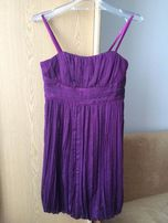 Fioletowa sukienka bombka (wesele, studniówka)