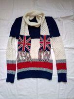 Женский свитер с шарфом размер M Жіночий светр з шарфом розмір M