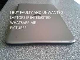 We buy faulty laptops for CASH