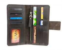 Мужской кожаный кошелек портмоне ручная работа Sullivan