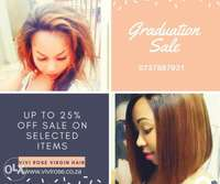 Image of Graduation specials on Brazilian and peruvian weaves.