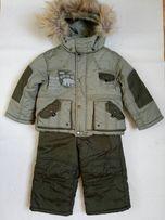 Зимняя куртка и полукомбинезон на мальчика рост 80 большемерит