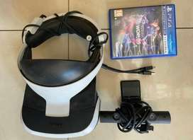 VR Headset for PS4 with camera PSVR and VR worlds game