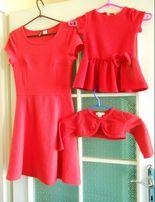 Sukienka Świąteczna H&M rozm. 36 czerwona stan idealny