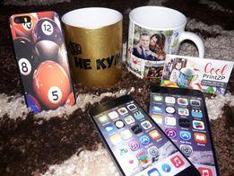 Печать на чашках, фото печать, печать на чехлах iPhone 3D и 2D