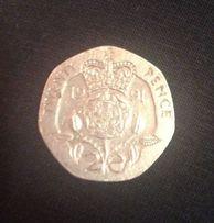 Монета 20 пенсов 1991 года Британия