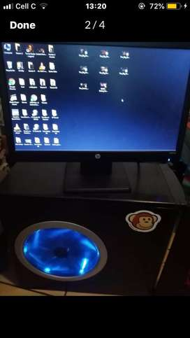 HP Monitor and Computer Tower
